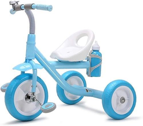 perfecto Yuany Triciclo, Triciclo portátil portátil portátil multifunción para Niños con hervidor de Agua, Triciclo al Aire Libre para bebés de 2 a 5 años, 2 Colors, 60x65x45cm (Color  azul)  buena calidad