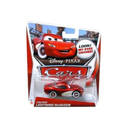 Disney / Pixar CARS Movie 1:55 Die Cast Car LENTICULAR EYES Cruisin' Lightning McQueen