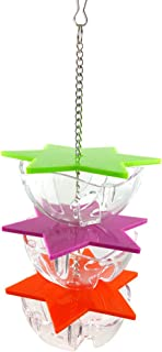 HEMOBLLO Bird Feeder Food Holder Parrot Hanging Treat Foraging Toy Bird Cage Interactive Hanging Parrot Bird Toy (3 Layer)
