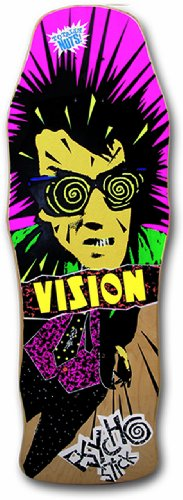 Vision Original Psycho Stick Reissue Skateboard Deck, Natural, 10 x...