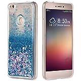 Funda Huawei P8 Lite 2017 Silicona, P9Lite 2017 Purpurina Carcasa, Bling Glitter Liquida Caso Cristal Flowing Telefono Cover Transparente Bumper Protector TPU Funda Compatibles con Huawei Honor 8 Lite