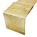 Tenrany Home 30 x 275 cm Gold Sequin Table Runner Tablecloth Oro Lentejuelas Manteles para la Fiesta de Navidad Decoración para el Hogar Boda o Eventos