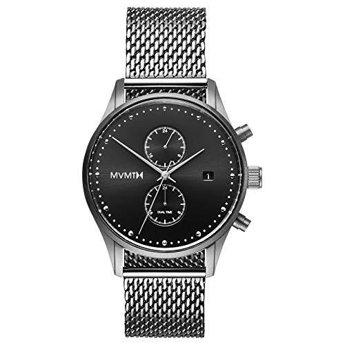 MVMT Voyager Watches | 42 MM Men's Analog Watch | Sterling Mesh
