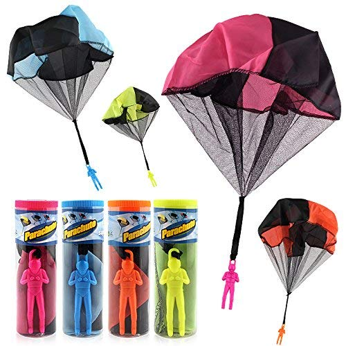 HENGBANG 4PCS Set Tangle Parachute Figures Hand Throw Soliders Square...