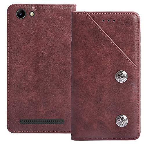 YLYT Flip Rot Schutz Hülle Hülle Für Archos 40 Power 4 inch Etui Leder Tasche Handyhülle Hochwertiges Stoßfeste Kartenfach Cover