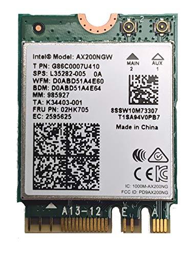 Intel OSGEAR Dual Band Wireless-AX200NGW WLA/Wi-Fi 6 AX200 2230 2x2 AX+ Bluetooth 5.0, M.2/A-E-Key (AX200.NGWG) Wi-Fi 6 AX200 con vPro, 2.4 GHz/5 GHz WLAN, Bluetooth 5.0, M.2/A-E-Key 802/A .11ax