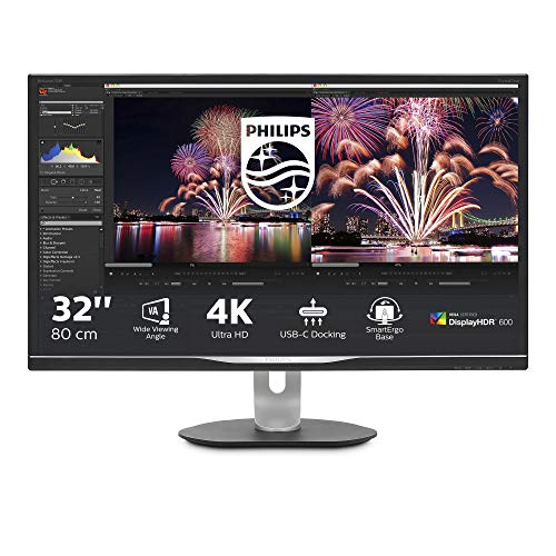 Monitor Philips 328P6VUBREB/00-32', 4K UHD, 60Hz, IPS, FlickerFree (3840x2160, 600 CD/m, HDMI 2x2.0, Displayport 1x1.2)