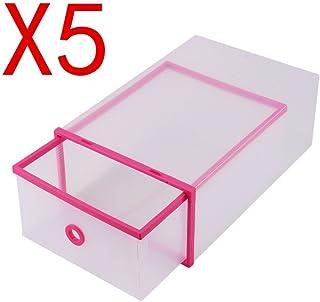 NEXTCOVER Adjustable Shoe Slot Organizer 6 Pack,Beige Color,NSO21829.