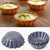 ALEOHALTER Molde para magdalenas, molde para tartas de postre, moldes para tartas acanaladas, resistentes a la temperatura, moldes para hornear postres, recetas de tartas