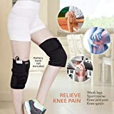 HealthMate Cordless USB Powered Heated Knee Wrap, Support in Relieving Pain, 3 Heating Options, Auto-Shut Off (Battery Pack not Included), by Wagan