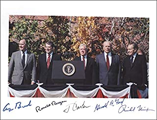 The Five Presidents - Photograph Signed with co-signers