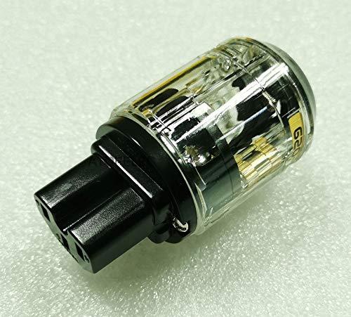 MOZUSA Enchufe de Enchufe Hembra Chapado en Oro/enchapado de rodio Conector de Audio de Alta fidelidad C-029 / C-037 / C-079 Cable Dia.17mm Accesorios industriales (Color : C 029 Gold Plated)