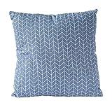 Nielsen Kissenbezug Chain, 45x45 cm, Quiet Harbor (blau/weiß), Baumwolle,...