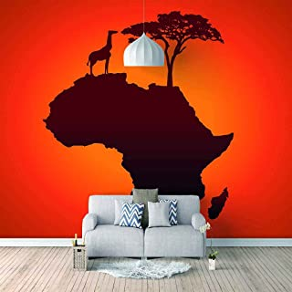 VITICP Adults Kids Wall Stickers Decals Peel and Stick Removable Wallpaper Abstract Animal Giraffe for Nursery Bedroom Liv...
