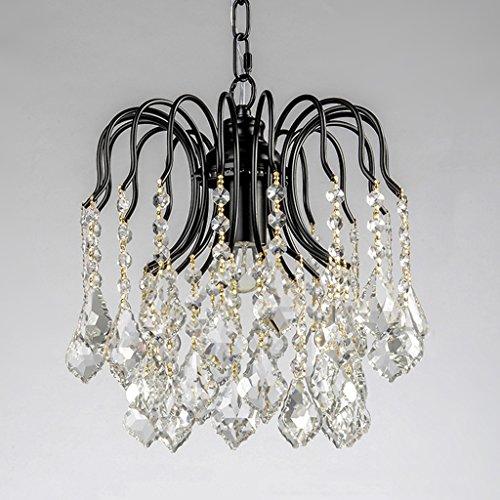 $éclairage Un lustre en cristal simple, un hall d'entrée, un hall d'entrée, un dressing, une chambre simple, une lampe de bar lumières intérieures (Couleur : Noir-30 * 32cm)