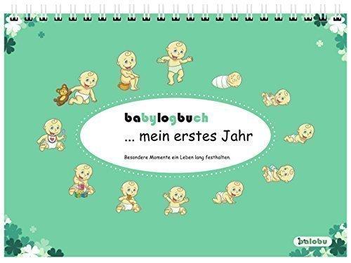 babylogbuch - mein erstes Jahr - farbmix - inkl. Aufkleberset - Baby-Kalender/Baby-Tagebuch - Geschenk