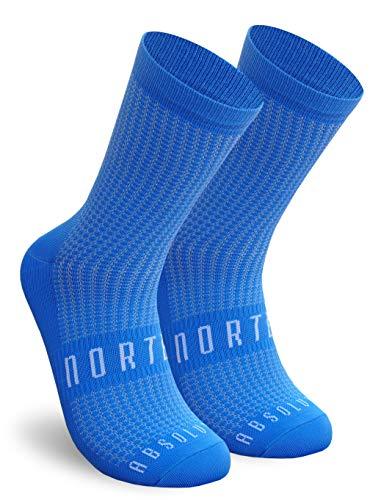 NORTEI Calzini Ciclismo Blu, MTB e Corsa per Uomo e Donna - Absolute Blue (L-XL (43-46))