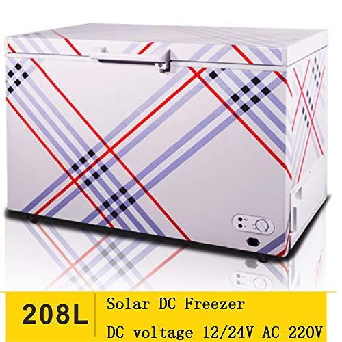 SSLL 208L Car Refrigerator pull-bar mini draagbare auto compressor koelkast vrieskast, 12 V / 220 V