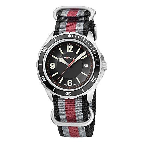 M WATCH Swiss Made Aqua Steel orologio da uomo, Indicazione della data e...