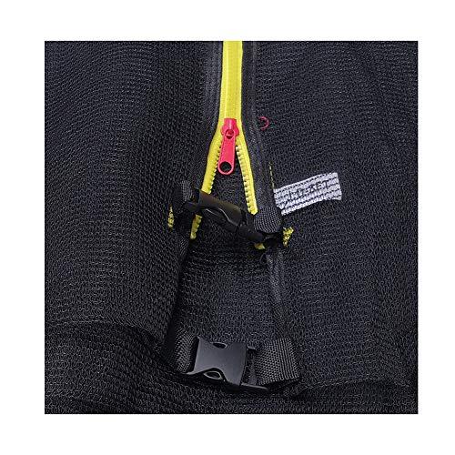 APJJ Sicherheitsnetz Ersatznetz für Trampolin Ø 366cm, Gartentrampolin Ersatznetz für 6 Stangen, mit Reißverschluss und Sicherheitsschnalle, Kleine Fingersicherheit, Ersatzteil Reißfest, UV-beständig