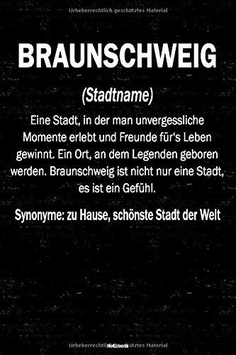 Braunschweig Notizbuch: Definition von der Stadt Braunschweig Journal DIN A5 liniert 120 Seiten Geschenk