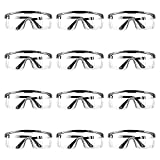 Occhiali Protettivi da Lavoro, Occhiali da Lavoro, 12 Pezzi Occhialini Protettivi, Occhial...