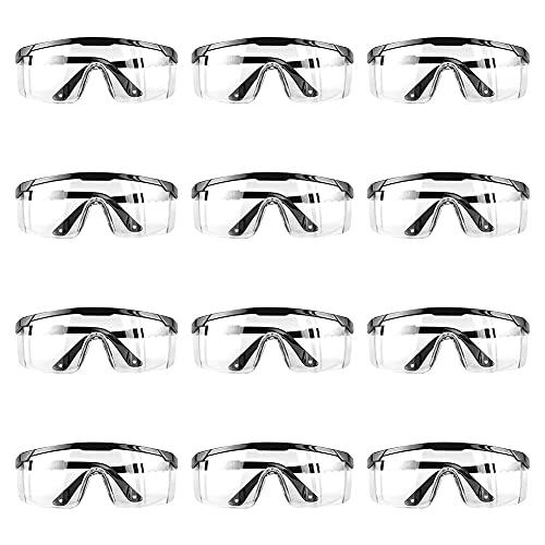 Occhiali Protettivi da Lavoro, Occhiali da Lavoro, 12 Pezzi Occhialini Protettivi, Occhiali Protettivi e Lgienici di Sicurezza Da Lavoro Occhiali Sicurezza per Lavori in Officina, Anti-nebbia