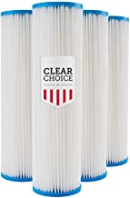 Clear Choice Sediment Filter Cartridge 10in X 2.50in Replacement for Pentek 155038, Watts FM-50-975, Whirlpool WHKF-WHPL, Dupont WFPFC3002, Liquatec SPF-25-1050, 4-Pk