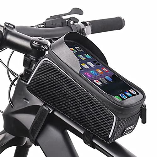 Bolsa Bicicleta, al aire libre portable del tubo de montaña/bicicleta de carretera marco superior frontal de la bolsa, el ciclismo impermeable del teléfono móvil de pantalla táctil Bolsa de sillín