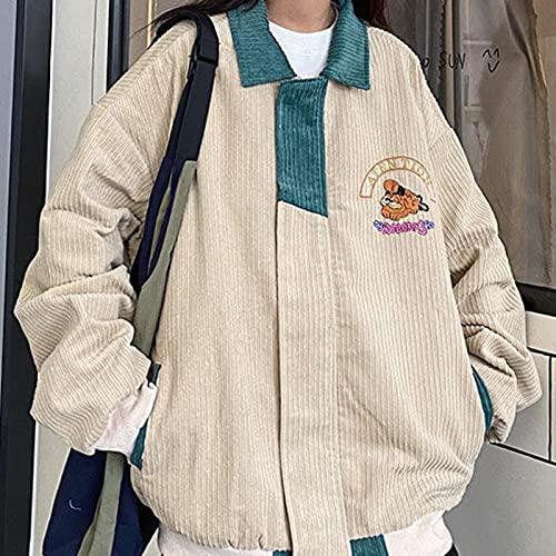 2021 Primavera Otoño New Corduroy Chaqueta de béisbol para Mujer Chaqueta de béisbol Coreana Harajuku Mujer Mujer Streetwear Gótico Chaquetas Cortavientos