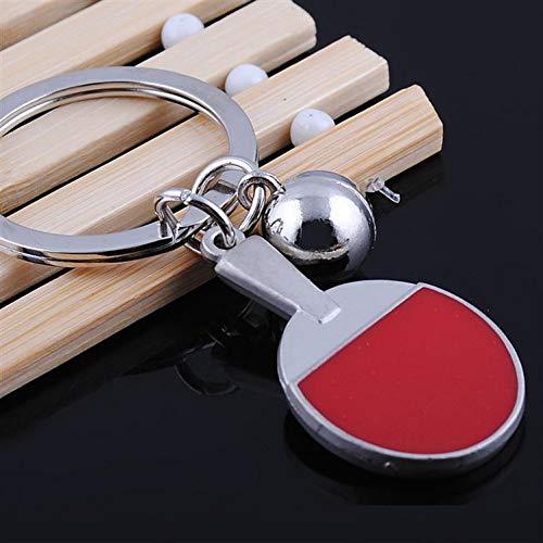 WANGWL Mode Sport Tischtennis Tischtennis Ball Badminton Bowling Ball Schlüsselbund Schlüsselanhänger Schlüsselanhänger Schlüsselanhänger Souvenir Geschenk