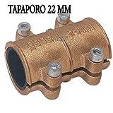 Suinga - TAPAPORO 22MM COBRE. Abrazadera reparación para tuberia 22mm. Goma interior que impide el paso de agua hacia el exterior.
