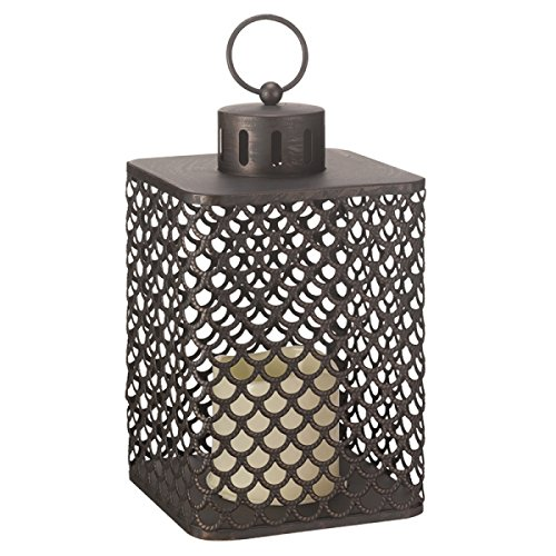 Homezone Large Moroccan LED Candle Lantern Lights Patio Table Lights Battery Operated Garden Lighting Landscaping Lights Indoor Or Outdoor Use.