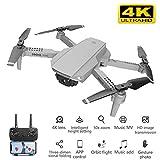 2020 Nouveau Drone E88 4k HD avec caméra Grand Angle Drone WiFi 1080p Transmission en Temps réel Drone FPV Follow Me Rc Quadcopter, Transmission d'image, lumière LED