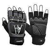 Husky Medium Pro Fingerless Magnetic Mechanics Glove