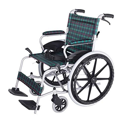 ZHITENG Tragbare Aluminiumlegierung, die manuelle Rollstuhl-untaugliche ältere Roller-Gehhilfen faltet erschwinglich