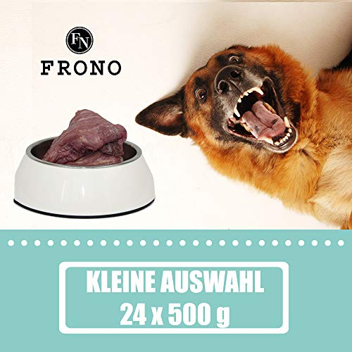 Frostfutter Nordloh Barf-Paket 12 kg Kleine Auswahl, komplette Barffleisch Fertigmenüs für Hunde