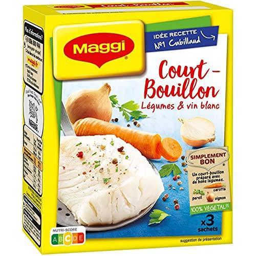 NESTLE MAGGI - Court Bouillon Légumes Et Vin Blanc 100% Végétal 150G - Lot De 4 - Offre Special