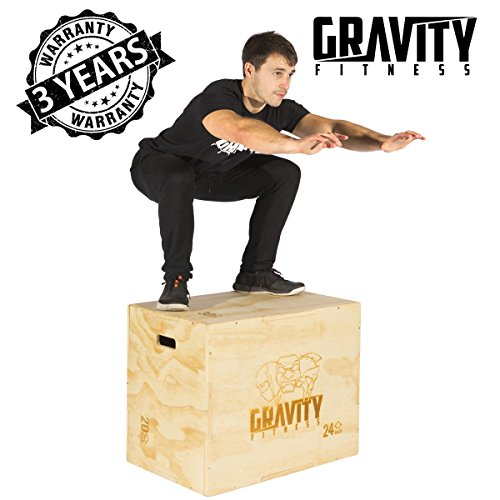 Gravity Fitness Caja de Saltos Pliométricos 3 en 1 30x20x24', Plyo Box,...