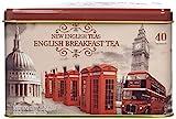 New English Teas Vintage London Tea Tin with 40 English Breakfast teabags