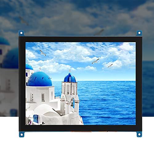 ASHATA Monitor Touchscreen Raspberry Pi da 8 Pollici, Display IPS HD 1024 x 768 con Touch Capacitivo multipunto, Ingresso HDMI per Raspberry Pi 4B/3B/BB Black e Altri Mini PC