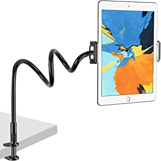 "Nulaxy Tablet Holder, Flexible Gooseneck Tablet Stand Mount for iPad, iPhone, Samsung Galaxy Tabs, Amazon Kindle Fire HD and More 4.7-10.5"" Devices, Good for Desk, Bed, Kitchen, Office-Black"