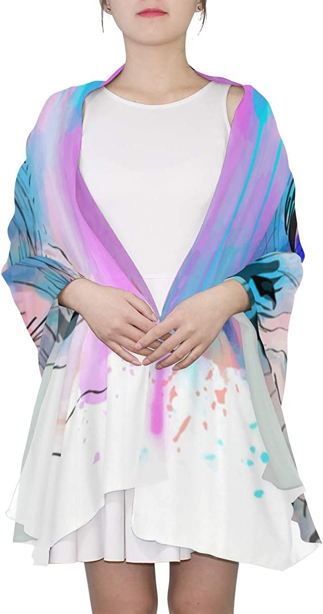 Tall And Powerful Rhinoceros Unique Fashion Scarf For Women Lightweight Fashion Fall Winter Print Scarves Shawl Wraps Gifts For Early Spring