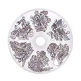 PandaHall Elite Circa 51pcs 6 Stile Angelo Charms ciondoli pendanti in Lega di Tibetano Stile ciondoli per creazione di Collana Braccialetto Gioielli, Argento Antico