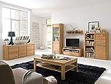 expendio Wohnzimmer Pisa 48 Eiche Bianco massiv 6-teilig Wohnwand Couchtisch Sideboard Wohnmöbel