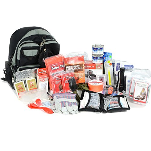 Deluxe 2 Person Bug Out Bag - Emergency Supplies Bugout Kit - Food, Shelter, Survival Tools & Gear Pack
