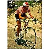 zkpzk Foto De Cartel De Montar En Bicicleta 2014 The Big Eddy Merckx Entrevista Pinturas Clásicas En Lienzo Carteles De Pared Pintura Decoración para El Hogar Gift-50X70Cmx1 Sin Marco