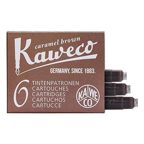 Kaweco Füller Tintenpatronen Caramel Brown für Patronen-Füller mit kurzen Standardpatronen I 6 Füllerpatronen für Tintenpatronen Füller vieler Hersteller I Tinte für Füller Karamelbraun