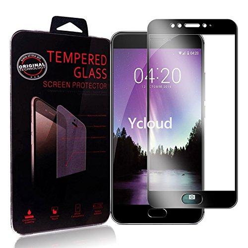 Ycloud Protector de Pantalla Meizu MX6 , Full Coverage, Anti-huella dactilar, Resistente a los arañazos, Cristal Templado Protector Meizu MX6 - Negro