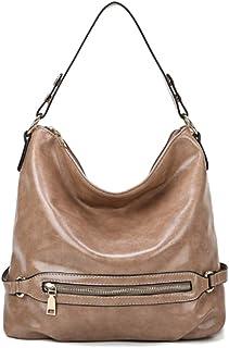 Kwisbag Women's Fashion Shoulder Hobo Restor Bags Khaki